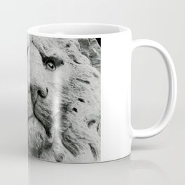 Sculpture of a medieval lion head of stone (Italy) B/W Photography Coffee Mug
