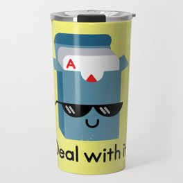 Talk to the Hand Travel Mug