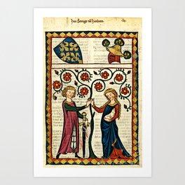 Codex Manesse: Bernger von Horheim Art Print