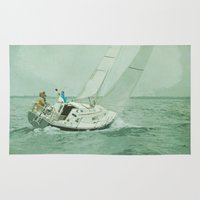 sail Area & Throw Rugs featuring Sail by Mary Kilbreath
