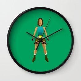 Low poly Lara Croft Wall Clock