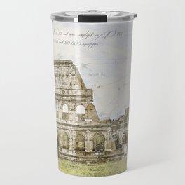 Colosseum, Rome Italy Travel Mug