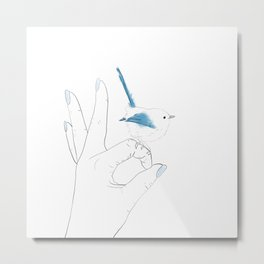 OK- Blue bird Metal Print