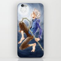 jack frost iPhone & iPod Skins featuring Jack Frost by SpaceMonolith