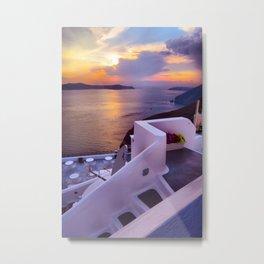 Santorini 24 Metal Print