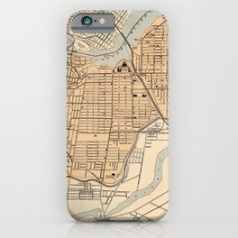 1906 Vintage Map of Ottawa iPhone Case