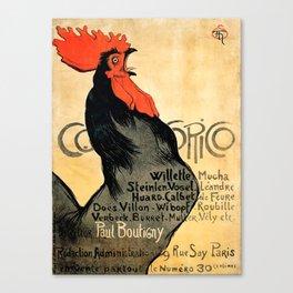 """Théophile Steinlen """"Cocorico"""" Canvas Print"""
