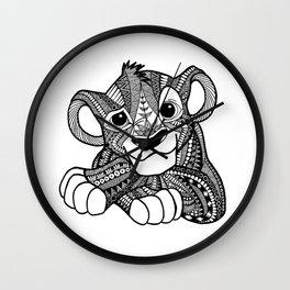 Zentangle Simba Wall Clock