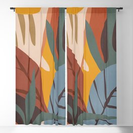 Abstract Art Jungle Blackout Curtain