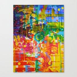My Colour Wheel Exploded Canvas Print