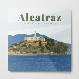 Alcatraz Prison San Francisco California Metal Print