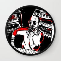 stevie nicks Wall Clocks featuring Stevie by Sam Ayres