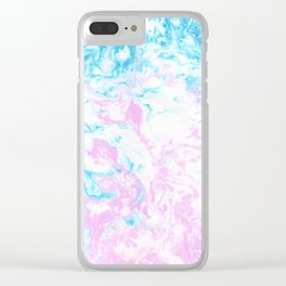 Marbling Clear iPhone Case