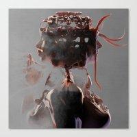 gemini Canvas Prints featuring Gemini by Jyri Straechav