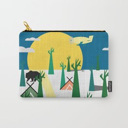 Bears in the forest and an airplane Carry-All Pouch