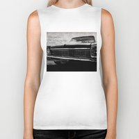 kerouac Biker Tanks featuring Shiny Car in the Night by Bella Blue Photography