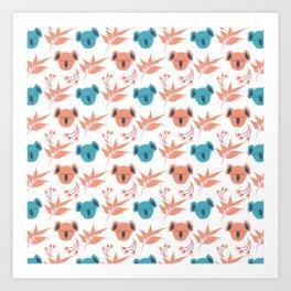 Koala Floral Gum Tree Fun Collection 6 Art Print