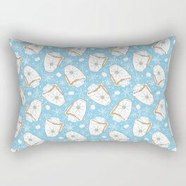 Snowing Marshmallow - Cocoa Rectangular Pillow