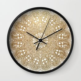 Golden Doily Wall Clock