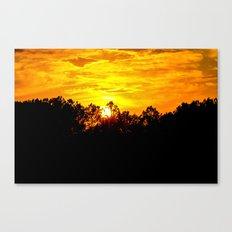 Blazing Sky Canvas Print