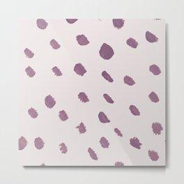 Blush lilac mauve violet modern brushstrokes Metal Print