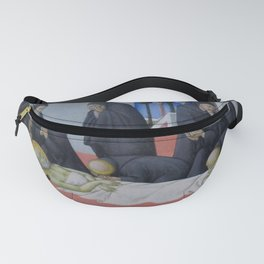 Sano di Pietro - The Death of St Jerome and His Apparition to St Cyril of Jerusalem Fanny Pack