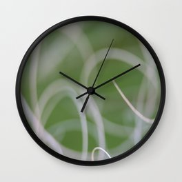 Abstract Image of Green Palm Leaves  Wall Clock