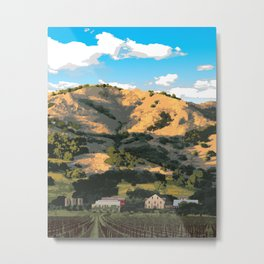 Regusci Winery - Napa Valley Metal Print