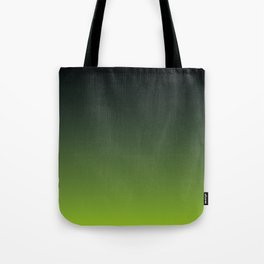 Ombre | Charcoal Grey and Lime Green Tote Bag