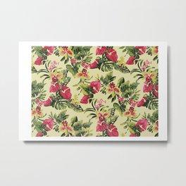 hawiian floral Metal Print