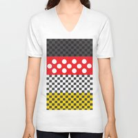minnie V-neck T-shirts featuring Minnie by AmadeuxArt