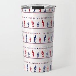 Sketchy London Royal Guard seamles pattern Travel Mug
