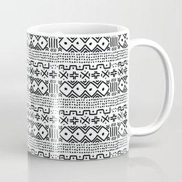 Mudcloth No. 3 in Black and White Coffee Mug