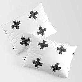 Watercolor Swiss Cross (White) Pillow Sham