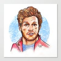 star lord Canvas Prints featuring Star Lord by Nicolaine