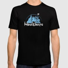 HOGWARTS Mens Fitted Tee MEDIUM Black
