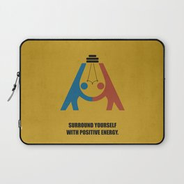 Lab No. 4 - Surround yourself with positive energy corporate start-up quotes Poster Laptop Sleeve