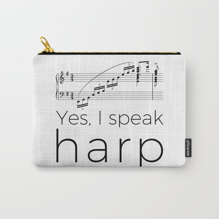 I speak harp Carry-All Pouch