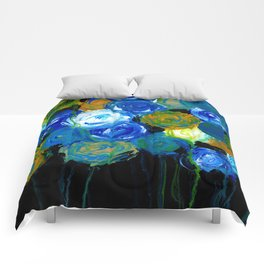 Whimsical - Flowers - Impressionism Comforters