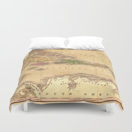 Map Of The Caribbean 1828 Duvet Cover