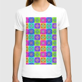 Boho Tapestry Tiles in India Silk Multi T-shirt