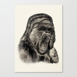 Gorilla Ink Canvas Print