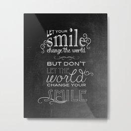 Smile Canvas Metal Print