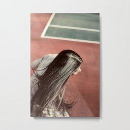 Tennis court Metal Print
