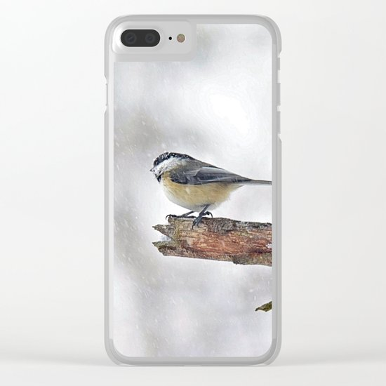Chickadee Versus Winter Storm Stella Clear iPhone Case