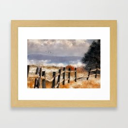 Morning Mists In The Mountain Framed Art Print