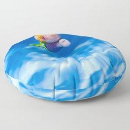 Mermaid in the pool Floor Pillow