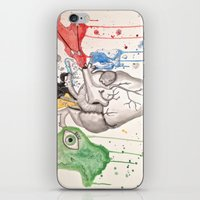 anatomical heart iPhone & iPod Skins featuring Anatomical Heart by Hannah Brownfield Camacho