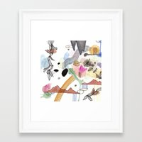 new year Framed Art Prints featuring New Year by Brooke Weeber