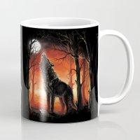 werewolf Mugs featuring Werewolf by Antracit